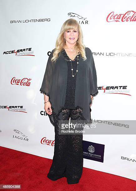 Philanthropist Daphna Ziman arrives at the Accelerate4Change charity event presented by Dr Ben Talei Cinemoi on August 29 2015 in Beverly Hills...