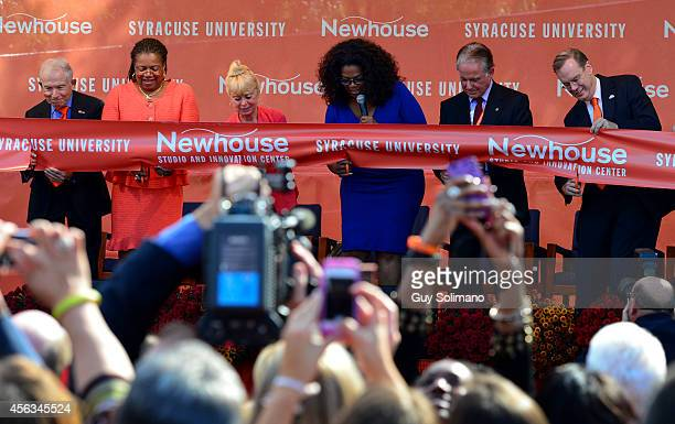 Philanthropist Donald Newhouse Lorraine Brantham Dean of the the S I Newhouse School of Public Communication at Syracuse University Kari Clark widow...