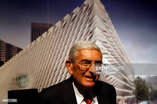 """Philanthropist Eli Broad unveils the architectural designs for The Broad Art Foundation's new contemporary art museum called """"The Broad"""" on Grand..."""
