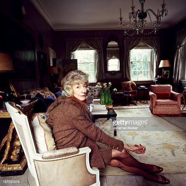 Philanthropist Evangeline Bruce is photographed for Vanity Fair Magazine on December 9, 1994 at home in Washington, DC. PUBLISHED IN JONATHAN BECKER:...