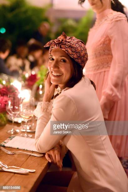 Philanthropist Hikari Yokoyama attends the Gucci X Artsy dinner at Faena Hotel on December 6 2017 in Miami Beach Florida