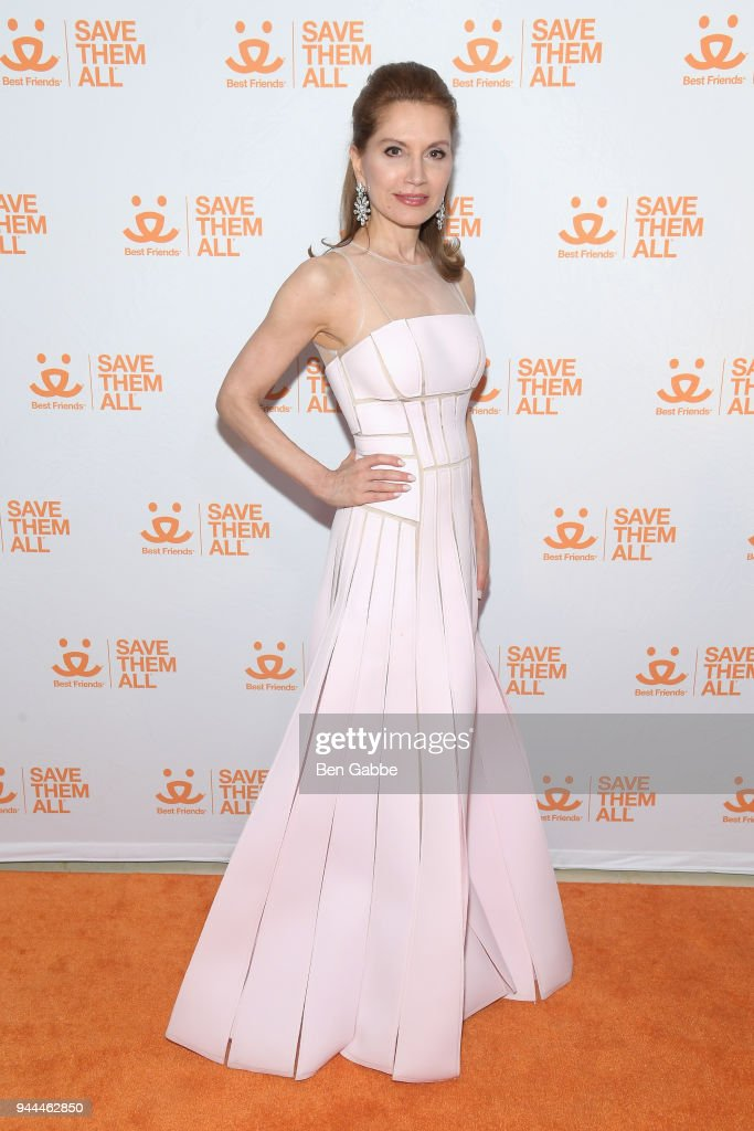 Philanthropist Jean Shafiroff attends the Best Friends Animal Society's 3rd Annual New York City Gala at Guastavino's on April 10, 2018 in New York City.