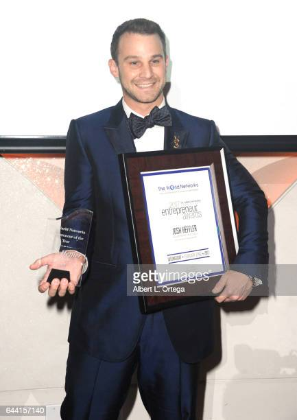 Philanthropist Josh Heffler honored at the 2017 Entrepreneur Awards held at Allure Events And Catering on February 22 2017 in Van Nuys California