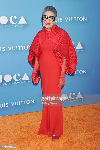 Philanthropist Joy Venturini Bianchi arrives at the 2015 MOCA Gala presented by Louis Vuitton at The Geffen Contemporary at MOCA on May 30 2015 in...