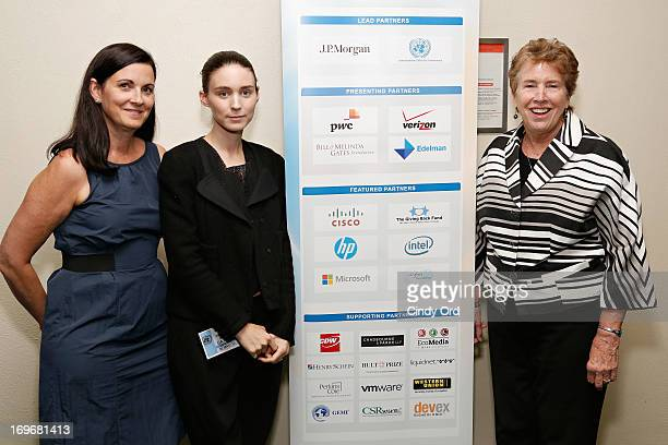 Philanthropist Kathleen Rooney Mara actress Rooney Mara and founder and executive director of Hekima Place Kate Fletcher attend the Social Innovation...