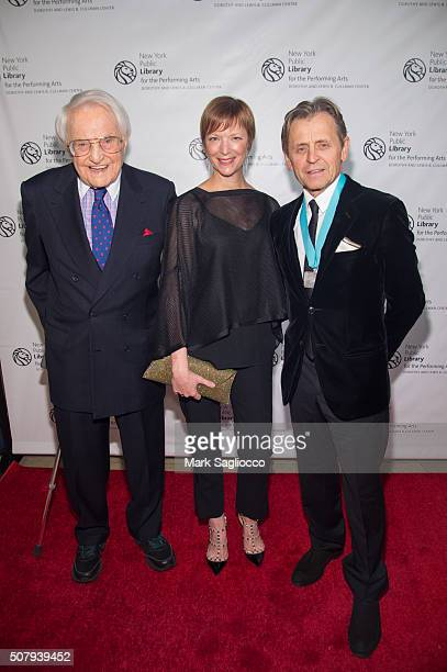 Philanthropist Lewis B Cullman Lisa Rinehart and Honoree Mikhail Baryshnikov attend the The New York Public Library For The Performing Arts' 50th...