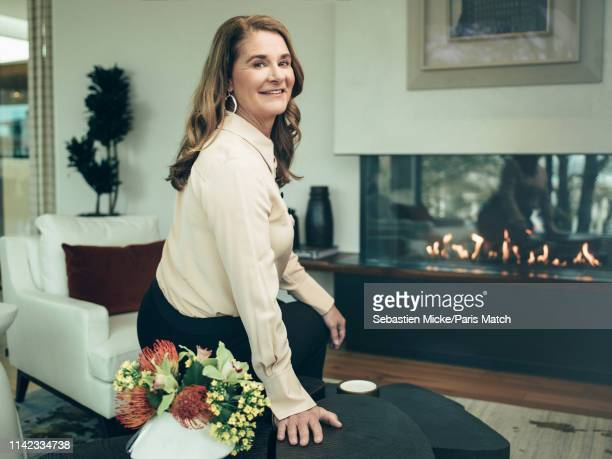 Philanthropist Melinda Gates is photographed for Paris Match on March 29 2019 in Seattle United States