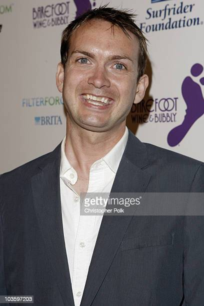 Philanthropist Michael Dean Shelton arrives at the Surfrider Foundation's 25th Anniversary Gala at California Science Center on October 9 2009 in Los...