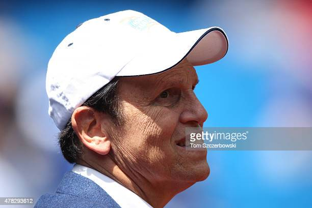 Philanthropist Michael Milken on the field before the start of the Baltimore Orioles MLB game against the Toronto Blue Jays on June 20 2015 at Rogers...