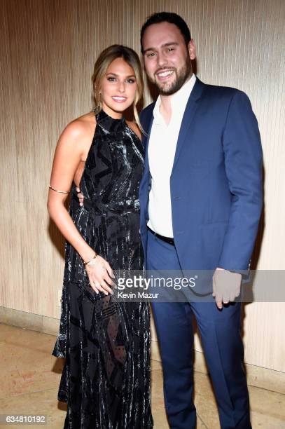 Philanthropist Yael Cohen and talent manager Scooter Braun attend PreGRAMMY Gala and Salute to Industry Icons Honoring Debra Lee at The Beverly...