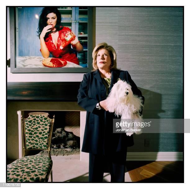 Philanthropist/art collector Wallis Annenberg is photographed for Vanity Fair Magazine on December 12, 2008 in Century City, California.