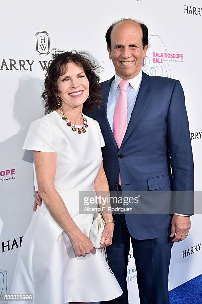 Philanthropists Lori Anne Hackel and Michael Milken attends the Kaleidoscope Ball at 3LABS on May 21 2016 in Culver City California