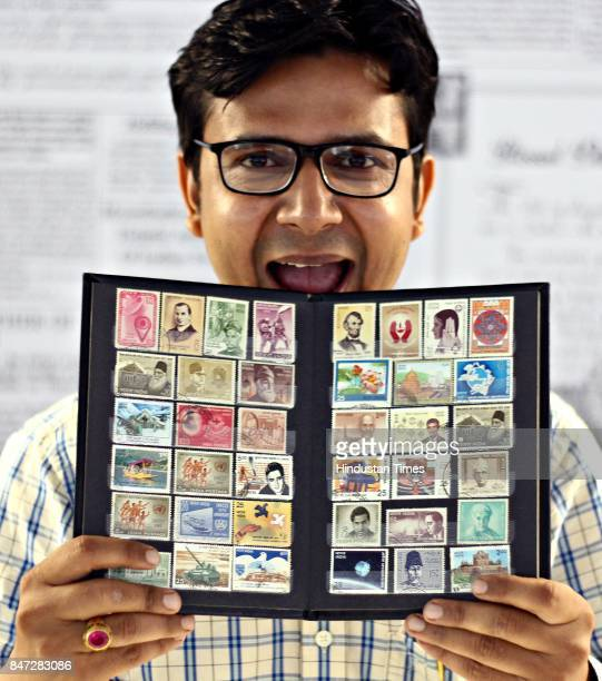 Philatelist and Antique Collector Vivek Kumar poses with his collection during an exclusive interview with HT CityHindustan Times at HT Media office...