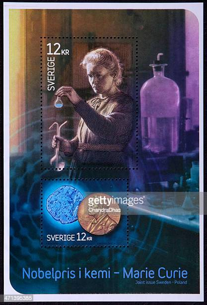 philately - swedish commemorative stamps - nobel prize stock pictures, royalty-free photos & images