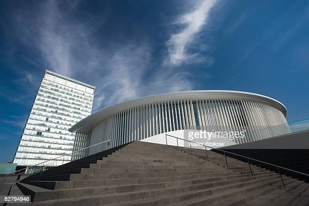 philharmonie luxembourg grande-duchese josephine - luxembourg city luxembourg stock pictures, royalty-free photos & images