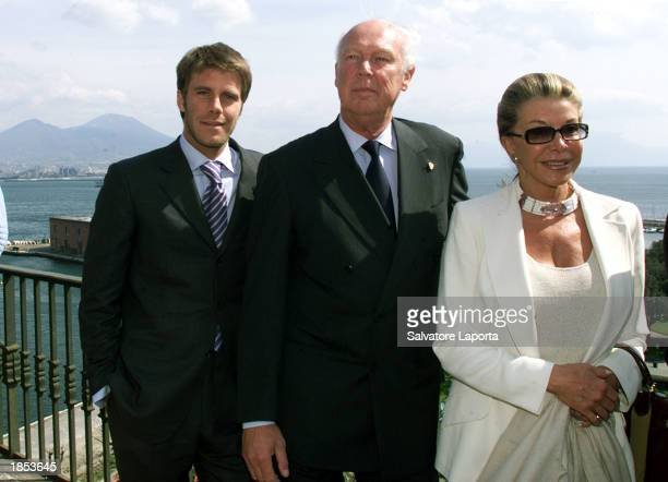 Philibert Vittorio Emanuele Savoia son of Italy's last king and Marina Doria visit at Royal Palace March 17 2003 in Naples Italy Emmanuel of the...
