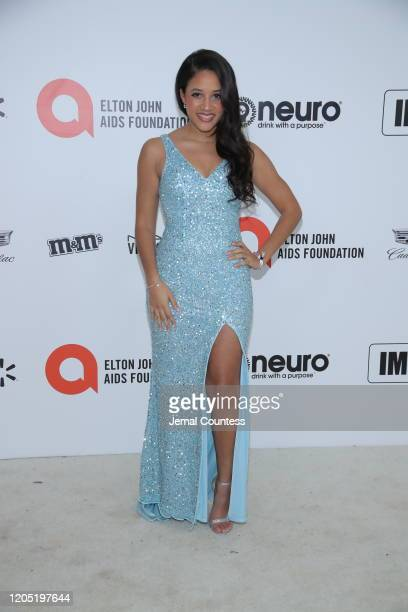 Philicia Saunders attends the 28th Annual Elton John AIDS Foundation Academy Awards Viewing Party sponsored by IMDb Neuro Drinks and Walmart on...