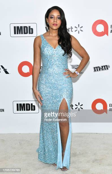 Philicia Saunders attends the 28th Annual Elton John AIDS Foundation Academy Awards Viewing Party Sponsored By IMDb And Neuro Drinks on February 09,...