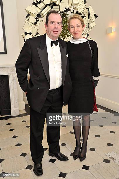Philip Astor and Justine Picardie attend Jo Malone's Thoroughly Proper Party at Jo Malone London Gloucester Place on December 12 2012 in London...