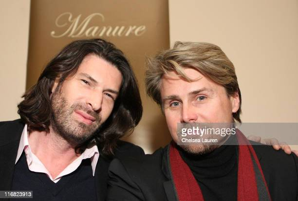 Philip B and producer Ken Johnson attend the Manure premiere after party at Eldridge in the Hollywood Life House on January 21 2009 in Park City Utah