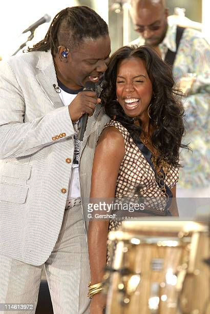 Philip Bailey and Kelly Rowland during Earth Wind and Fire with Kelly Rowland Perform on NBC's The Today Show Summer Concert Series June 16 2006 at...