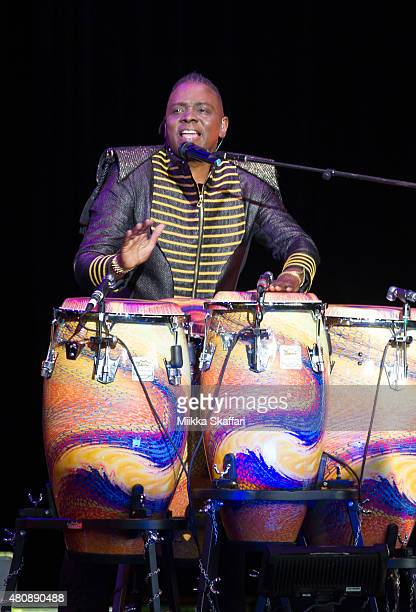 Philip Bailey of Earth Wind Fire performs at Concord Pavilion on July 15 2015 in Concord California
