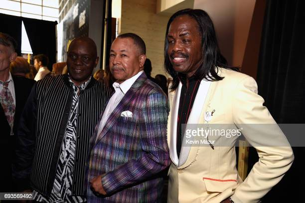 Philip Bailey Ralph Johnson and Verdine White of Earth Wind and Fire attend the 2017 CMT Music Awards at the Music City Center on June 7 2017 in...