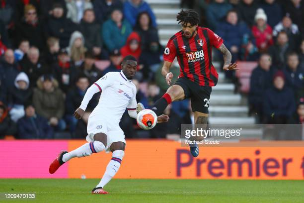 Philip Billing of AFC Bournemouth and Fikayo Tomori of Chelsea during the Premier League match between AFC Bournemouth and Chelsea FC at Vitality...