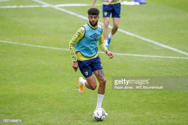 Philip Billing of Bournemouth during a pre-season training session at Vitality Stadium on July 07, 2021 in Bournemouth, England.