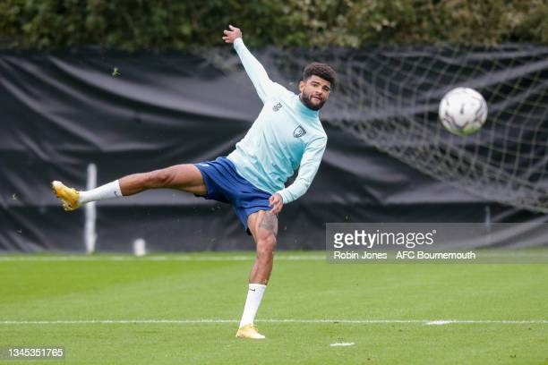 Philip Billing of Bournemouth during a training session at the Vitality Stadium on October 07, 2021 in Bournemouth, England.