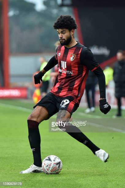 Philip Billing of Bournemouth in action during during the FA Cup match between Bournemouth and Oldham Athletic at the Vitality Stadium, Bournemouth...