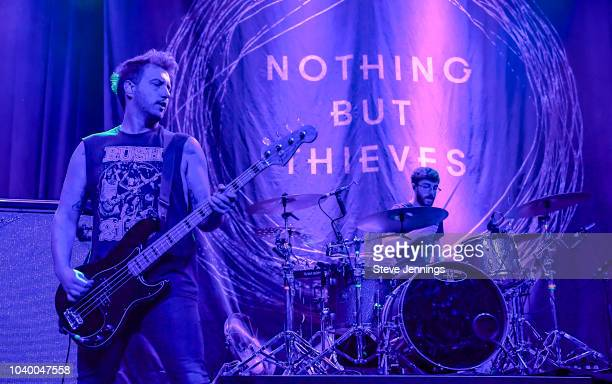 Philip Blake and James Price of Nothing But Thieves perform at The Fillmore on September 24 2018 in San Francisco California