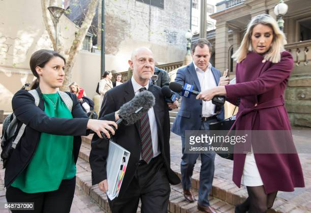 Philip Bolton SC representing Fadi Ibrahim leaves Sydney Central Local Court after Fadi Ibrahim was granted bail on September 18, 2017 in Sydney,...