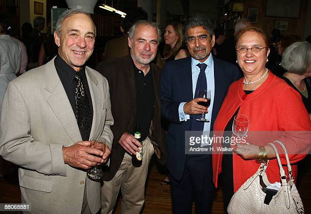 Philip Caputo Richard Russo publisher and EditorinChief of Alfred A Knopf Ajai Singh Sonny Mehta and Lidia Matticchio Bastianich attend a cocktail...