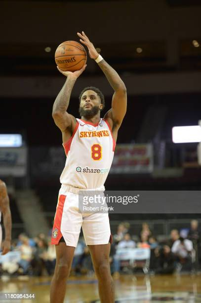 Philip Cofer of the College Park SkyHawks shoots a foul shot during a G League game between the Erie BayHawks and the College Park SkyHawks at the...
