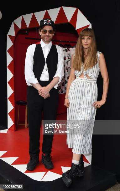 Philip Colbert and Charlotte Colbert attend the Shark Shack Opening an exclusive pop up store designed by Philip Colbert and The Rodnik Band to...