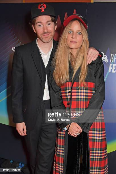 """Philip Colbert and Charlotte Colbert attend the UK Premiere of """"She Will"""" during the 65th BFI London Film Festival at the The Curzon Mayfair on..."""