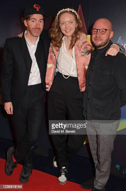 """Philip Colbert, Lily Cole and Executive Producer Sam Pressman attend the UK Premiere of """"She Will"""" during the 65th BFI London Film Festival at the..."""