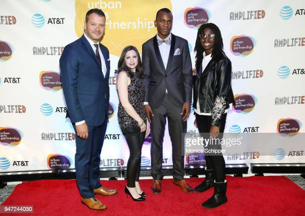 Philip Courtney and Marissa Shorenstein attend the Urban Arts Partnership's AmplifiED Gala at The Ziegfeld Ballroom on April 16 2018 in New York City