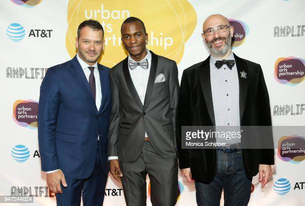 Philip Courtney and Niclas Nagler attend the Urban Arts Partnership's AmplifiED Gala at The Ziegfeld Ballroom on April 16 2018 in New York City