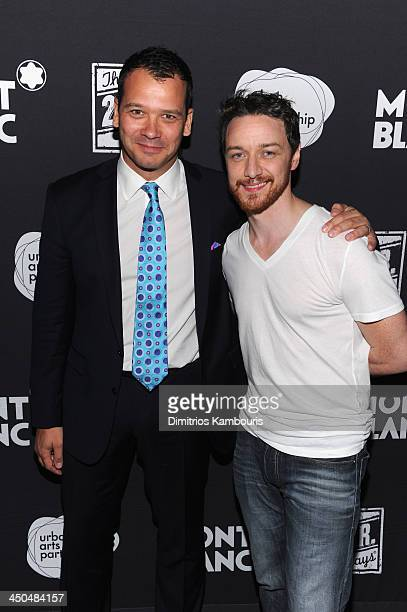 Philip Courtney CEO of Urban Arts Partnership and James McAvoy attend Montblanc Presents The 13th Annual 24 Hour Plays On Broadway After Party at BB...