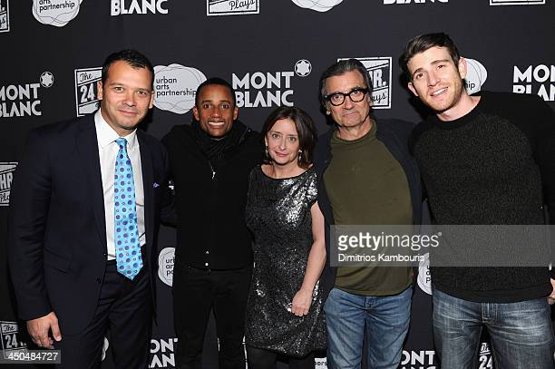 Philip Courtney CEO of Urban Arts Partnership Hill Harper Rachel Dratch Griffin Dunne and Bryan Greenberg attend Montblanc Presents The 13th Annual...