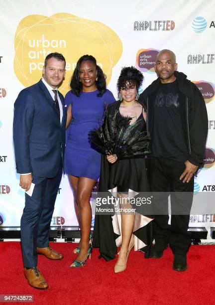 Philip Courtney Katrina Perou Rhiannon Murphy and Darryl McDaniels attend the Urban Arts Partnership's AmplifiED Gala at The Ziegfeld Ballroom on...