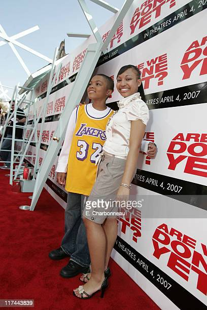 Philip Daniel Bolden and Aleisha Allen during The Premiere of Revolution Studios' and Columbia Pictures' Are We Done Yet Red Carpet at Mann Village...