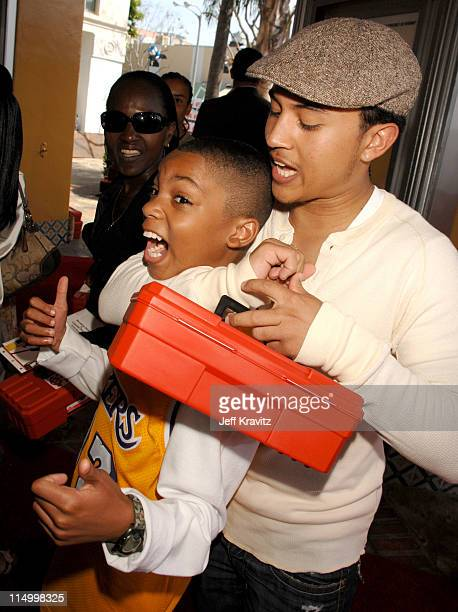 Philip Daniel Bolden and Tahj Mowry during 'Are We Done Yet' Los Angeles Premiere Red Carpet at Mann Village Theater in Westwood California United...