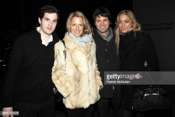 Philip Deely Maike Cruse David Simkins and Alina Kohlem attend MoMA's ARMORY SHOW Opening Night Benefit Party at MoMA on March 4 2009 in New York