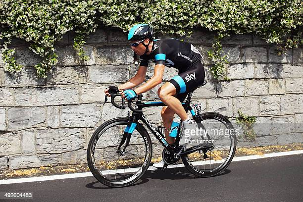 Philip Deignan of Ireland and Team SKY in action during the eleventh stage of the 2014 Giro d'Italia a 249km medium mountain stage between Collecchio...