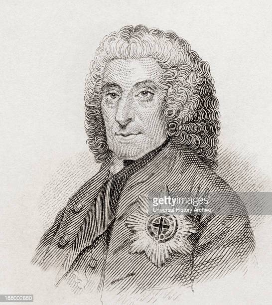 Philip Dormer Stanhope 4Th Earl Of Chesterfield 1694 To 1773 British Statesman And Man Of Letters From Crabb's Historical Dictionary Published 1825