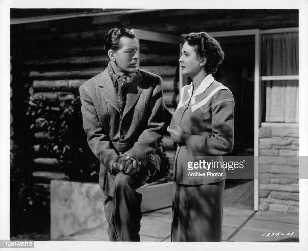 Philip Dorn and Mary Astor have a domestic misunderstanding in a scene from the film 'Blonde Fever' 1944