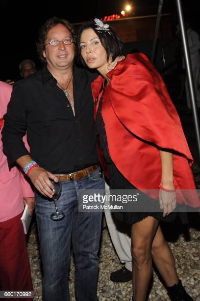 Philip Falcone and Lisa Maria Falcone attend Inferno The 16th Annual WATERMILL CENTER Summer Benefit at The Watermill Center on July 25 2009 in...